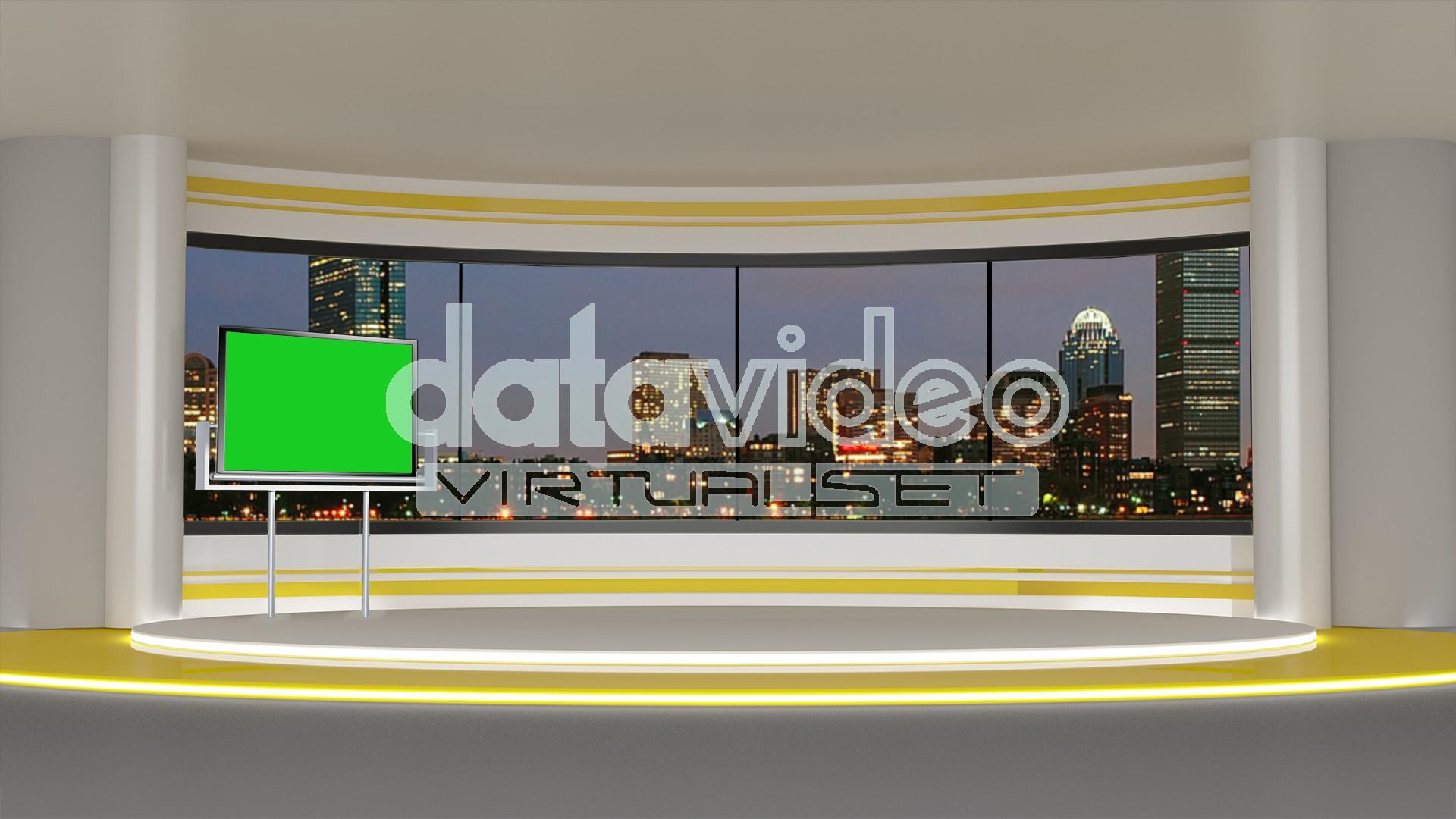 News 005 TV Studio Set Virtual Green Screen Background PSD
