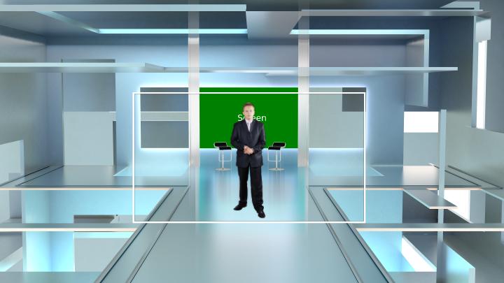 几何抽象风格虚拟背景
