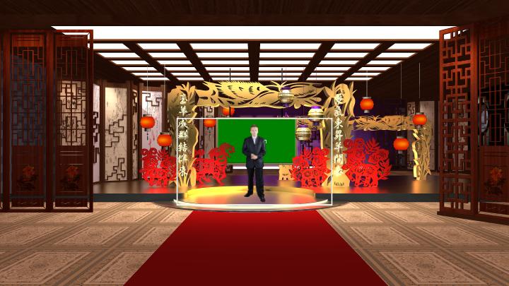 新年类虚拟演播室背景素材-1