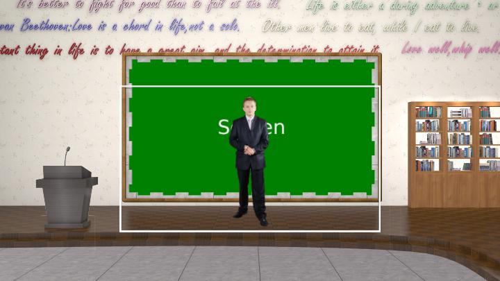 英语课堂主题风格虚拟背景