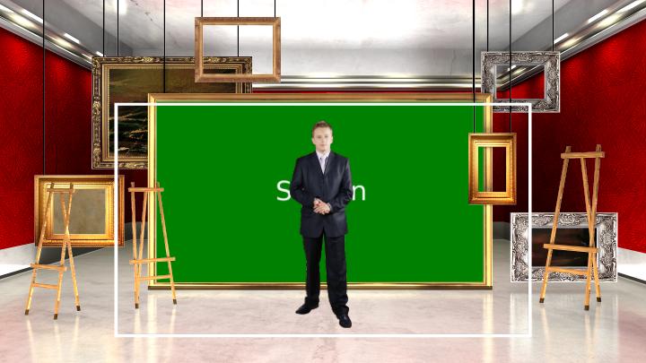 美术教室主题风格虚拟背景