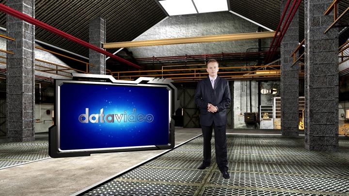 复古工厂虚拟演播室背景