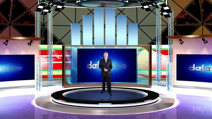 新闻及股票分析虚拟演播室背景