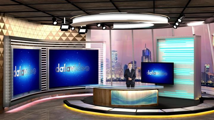 【TVS-3000】现代艺术虚拟演播室背景