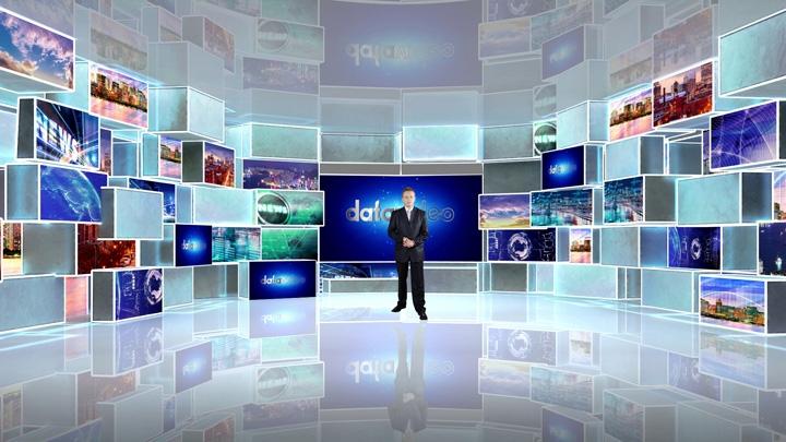 【TVS-3000】透明与多彩矩型装饰虚拟演播室背景