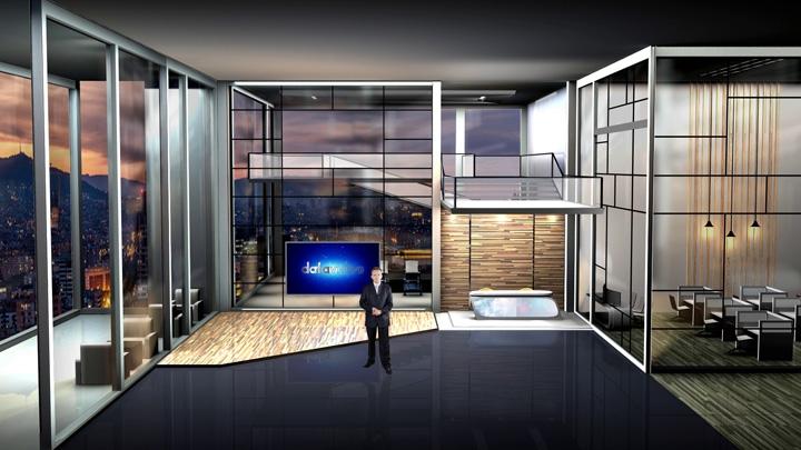 【TVS-3000】画廊风格虚拟演播室背景