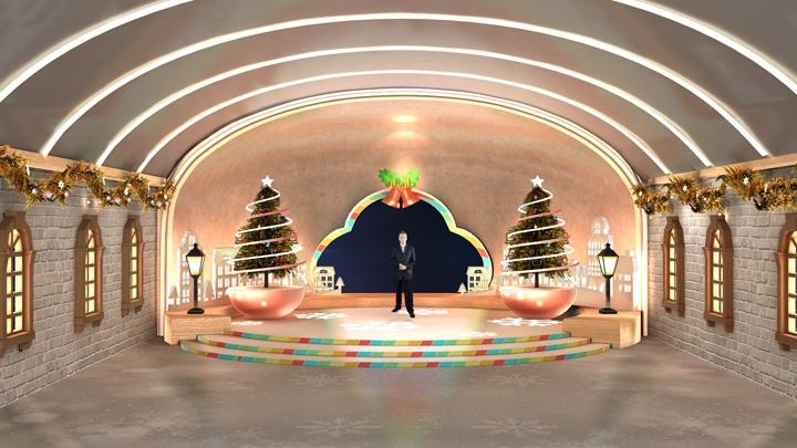 【TVS-2000A】 色彩缤纷的圣诞节虚拟演播室场景