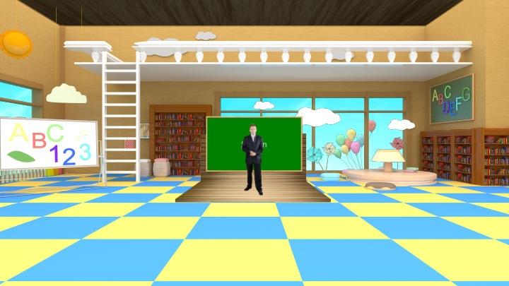 儿童课堂教育用缤纷虚拟场景