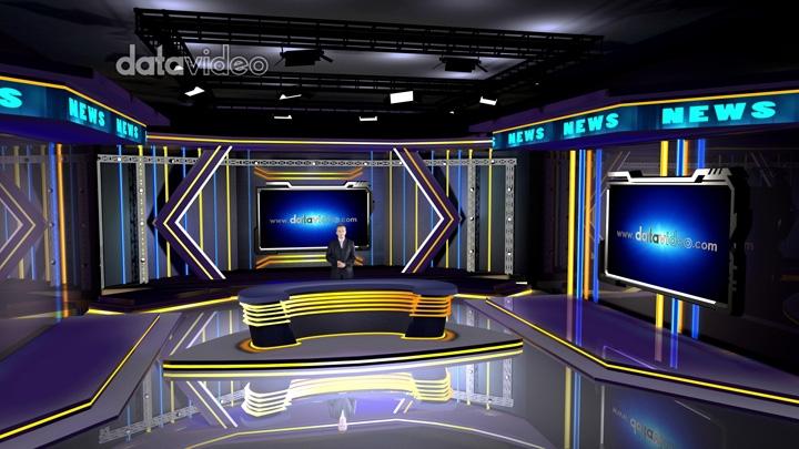黑暗时尚LED灯新闻演播室