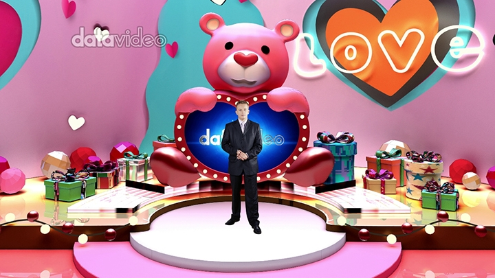 【TVS-3000】巨型熊屏幕情人节虚拟场景