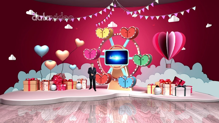 【TVS-3000】情人节小摩天轮虚拟场景