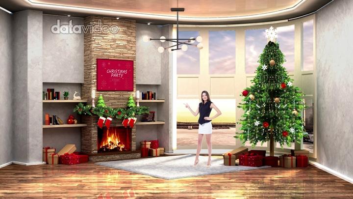 圣诞节主题虚拟演播室背景-3