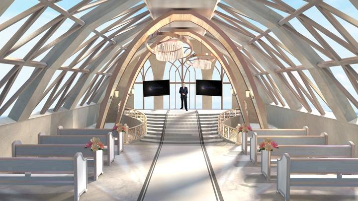【TVS-2000A】纯白婚礼风格虚拟演播室背景