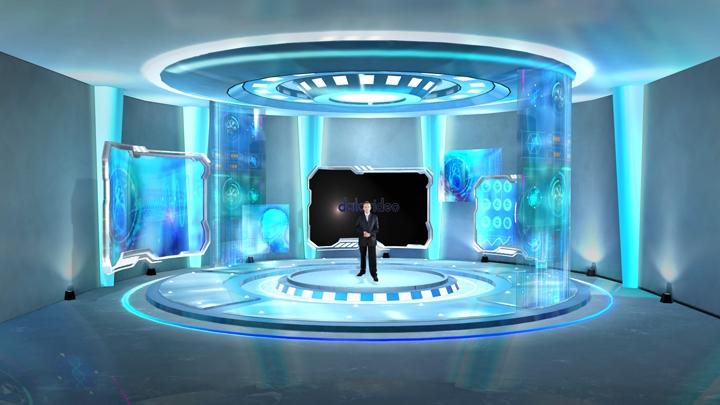 【TVS-2000A】医疗科学虚拟演播室背景