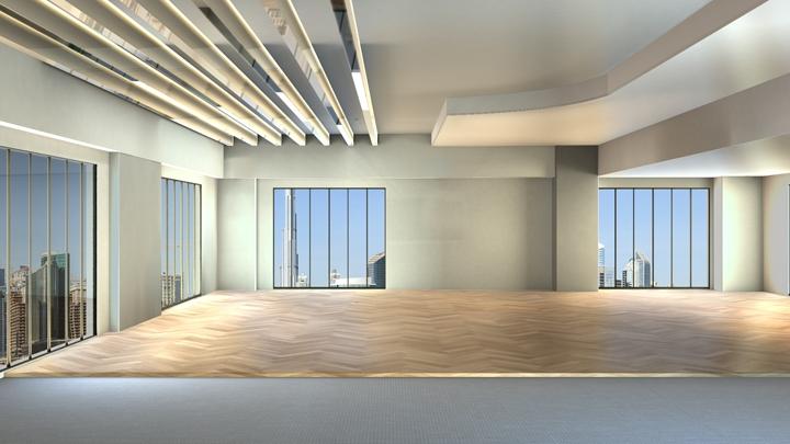 【TVS-2000A 模板】开放式的现代办公空间
