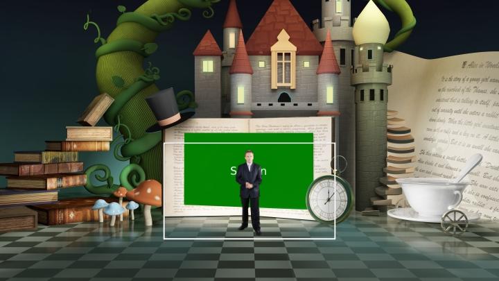 迪士尼童话风格虚拟演播背景
