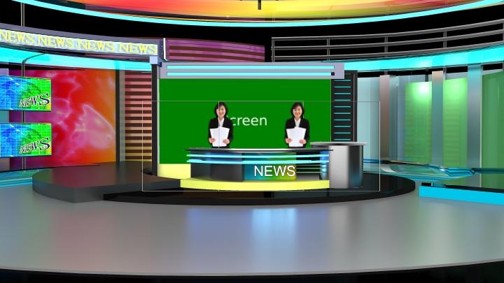 经典新闻播报虚拟演播室场景