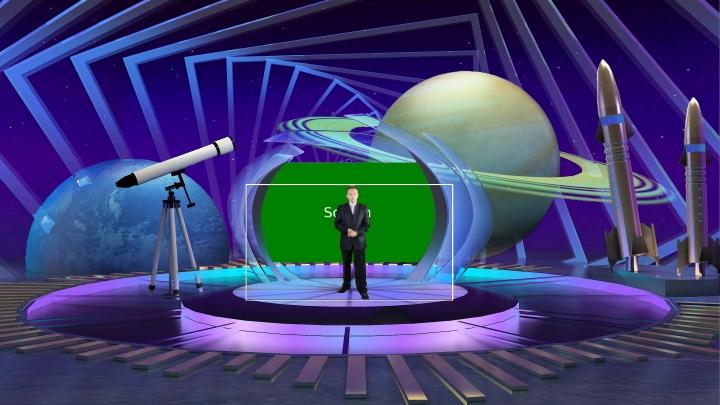 天文_科幻_太空_星球主题虚拟演播室背景