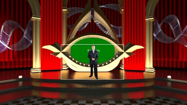 电影颁奖典礼风格虚拟演播室场景素材