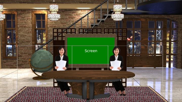 老房子风格虚拟演播室场景素材