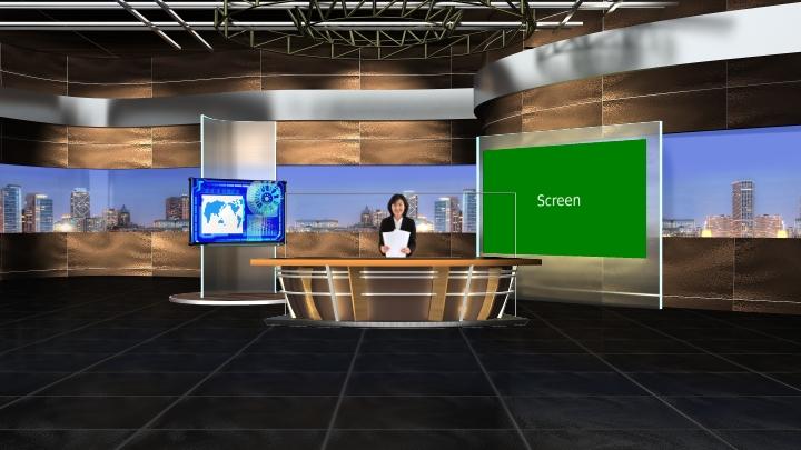 木质风格虚拟背景场景素材