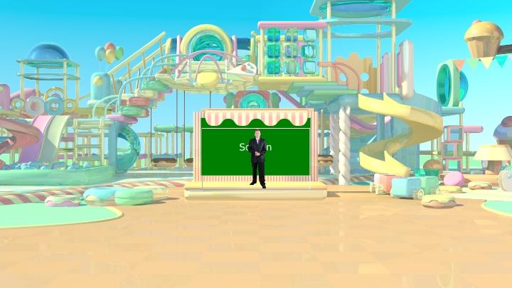 梦幻乐园虚拟背景场景素材