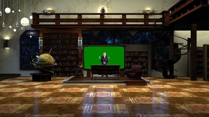 天文图书馆虚拟背景素材