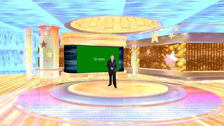 欢乐星球虚拟演播室场景