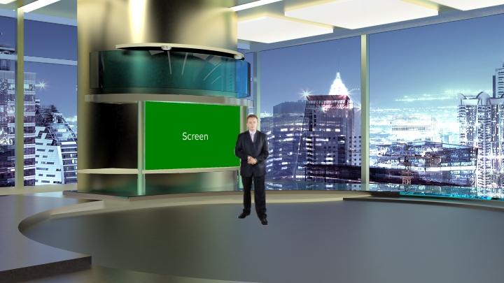 经典虚拟演播室背景