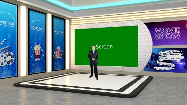 电影娱乐类型虚拟演播室背景素材