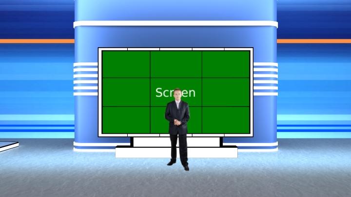 蓝色虚拟演播室背景