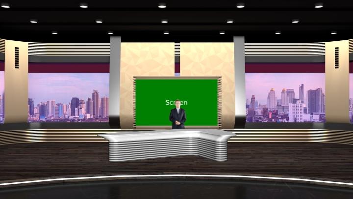 城市视窗虚拟演播室背景