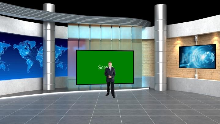 砖墙虚拟演播室背景素材