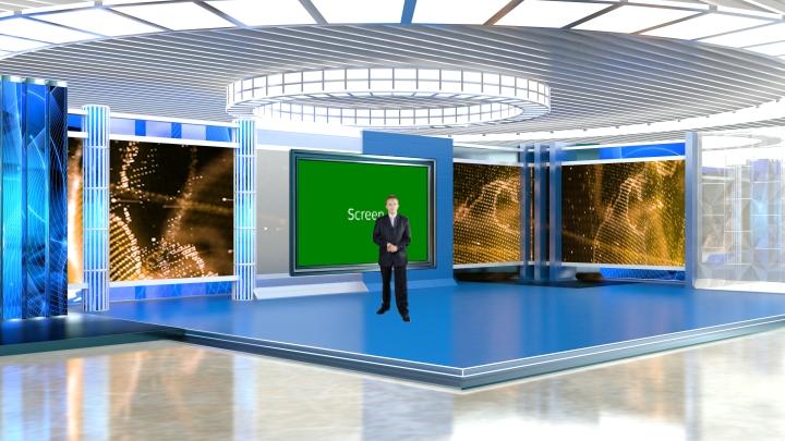 辉煌经典虚拟演播室背景素材