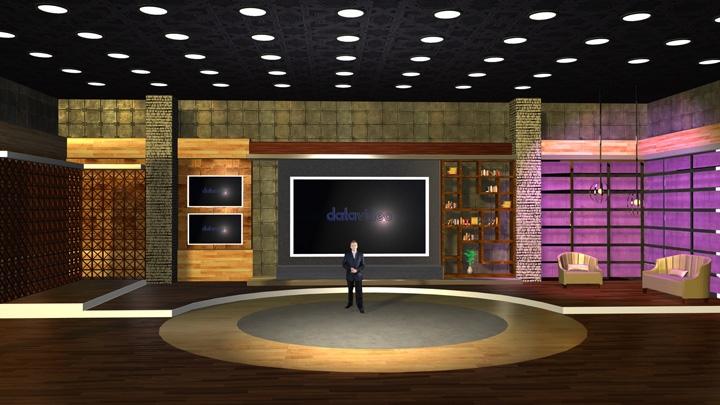【TVS-2000A】木质纹理空间虚拟场景