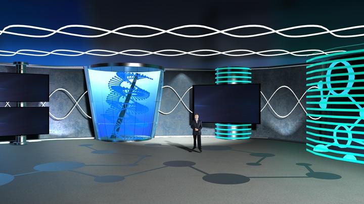 【TVS-2000A】化学与生物教育虚拟演播室背景
