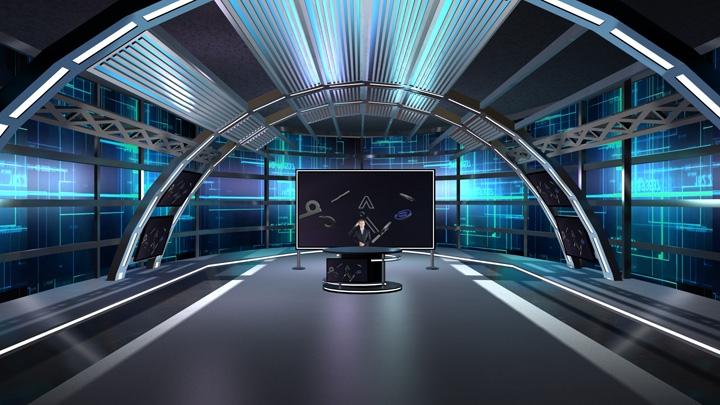 【TVS-2000A】科幻风格虚拟演播室背景