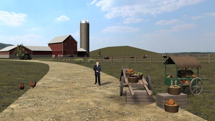 【TVS-2000A】田园农场风格娱乐虚拟背景