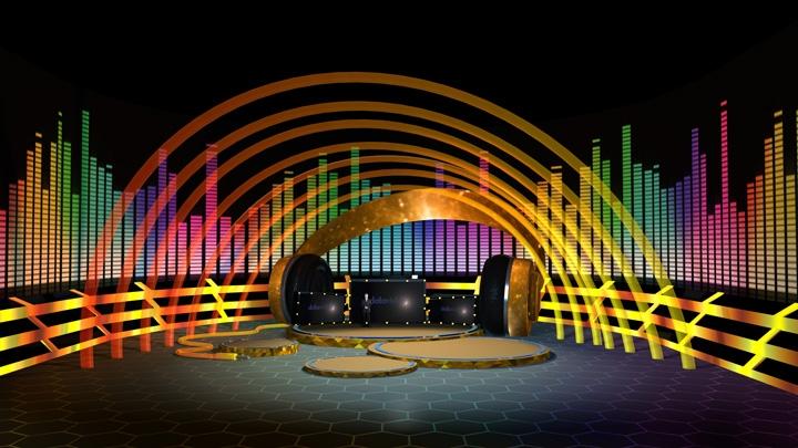 【TVS-2000A】音乐表演娱乐虚拟演播室背景