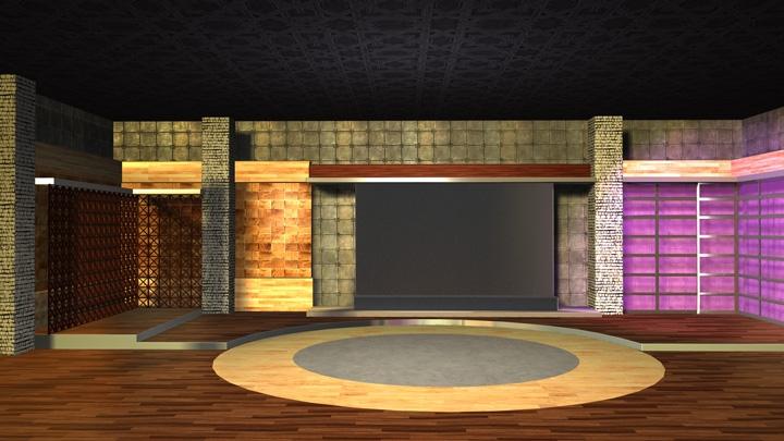 【TVS-2000A模板】木质纹理空间虚拟场景
