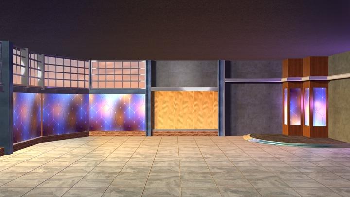 【TVS-2000A模板】不对称设计的虚拟场景素材