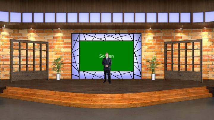 乡村风格虚拟演播室背景