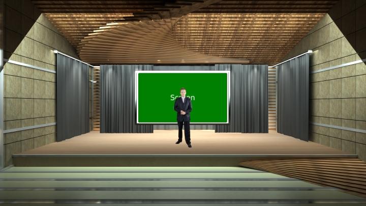 演讲舞台虚拟背景