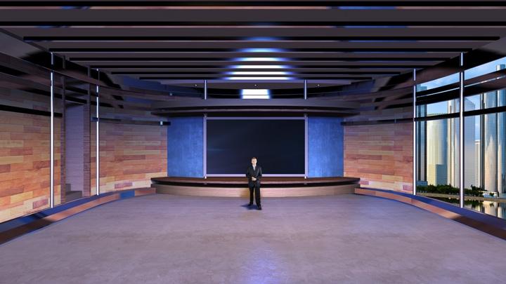 【TVS-2000A】暖色调虚拟演播室背景