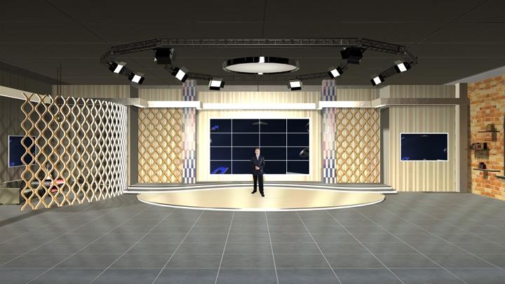 【TVS-2000A】艺术教室风格虚拟场景素材