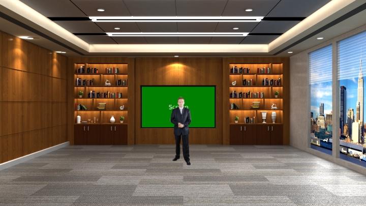 会议室风格虚拟演播室背景