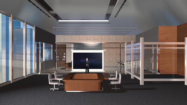 【TVS-2000A】会议厅虚拟演播室背景素材