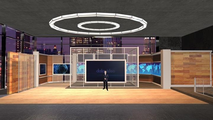 【TVS-2000A】工作室风格虚拟演播室背景