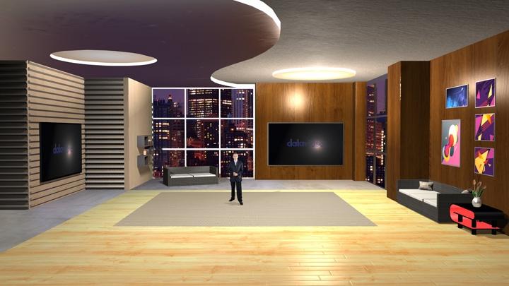 【TVS-2000A】居家风格虚拟演播室背景