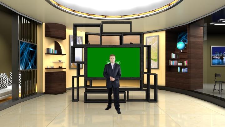 【虚拟演播室背景】古典类演播室